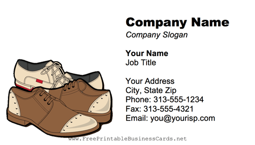 Men's Shoes business card