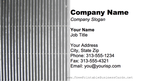 Metal Grill business card