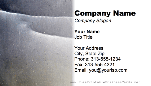 Metal Texture Creased business card