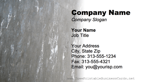 Metal Texture White And Gray business card
