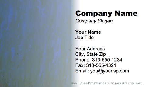 Metal Texture Blue And Gray business card