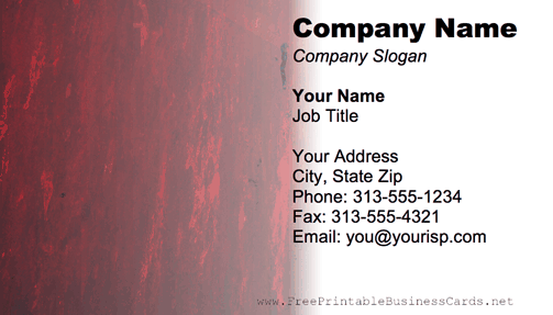 Metal Texture Red And Gray business card