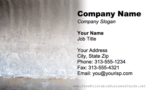 Metal Texture Gray business card