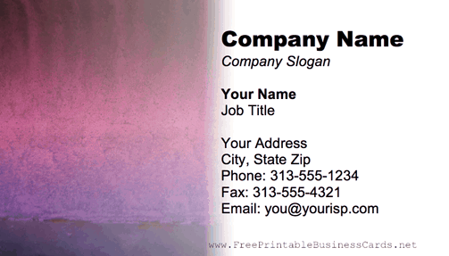 Metal Texture Purple business card