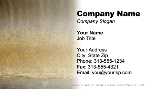 Metal Texture Tan business card