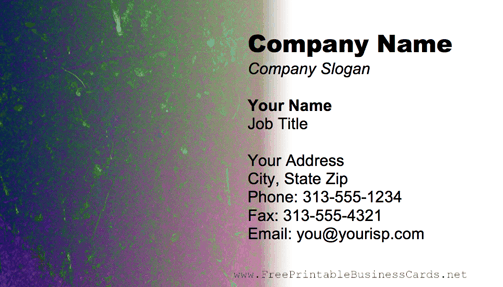 Metal Texture Multi-Colored business card