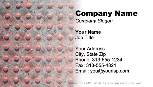Metal Texture Bumpy Red business card