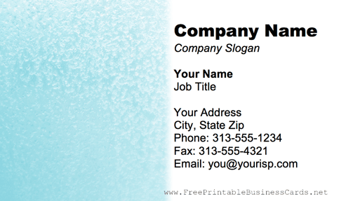 Metal Texture Light Blue business card