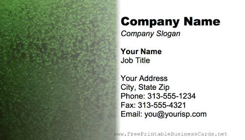 Metal Texture Dark Green business card