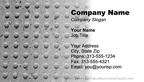 Metal Texture Bumpy Gray business card
