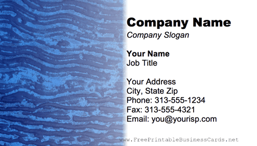 Metal Texture Wavy Blue business card