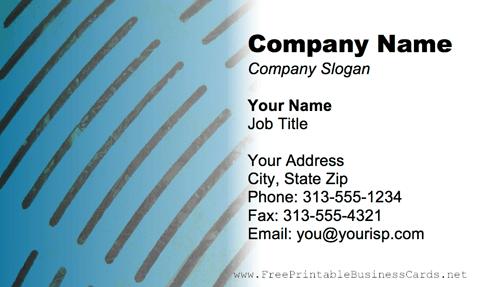 Metal Texture Blue Metal Grill business card