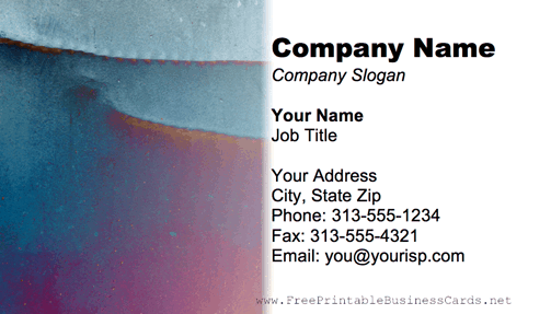 Metal Texture Negative business card