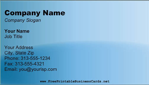 Metallic Blue business card