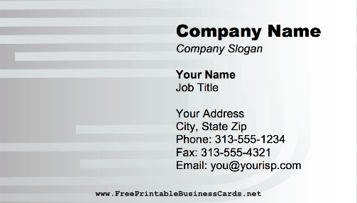 Metallic Rods business card