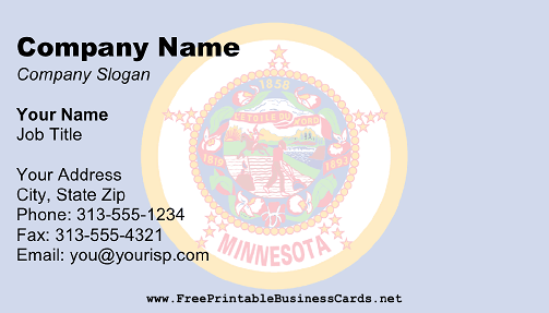 Minnesota Flag business card