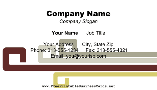 Modern Burgundy Gray business card