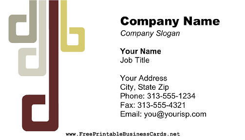 Modern Burgundy Gray 2 business card