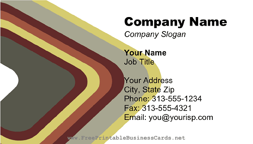 Burgundy Gray Triangle business card