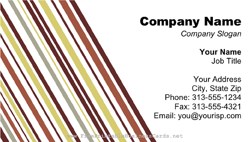 Burgundy Gray Lines business card