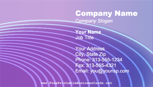 Modern Wave business card