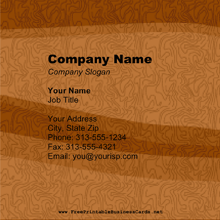 Wood Texture Square business card