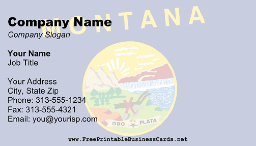 Flag of Montana business card