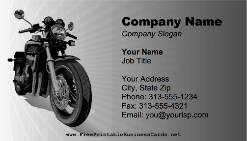 Motorcycle Street business card