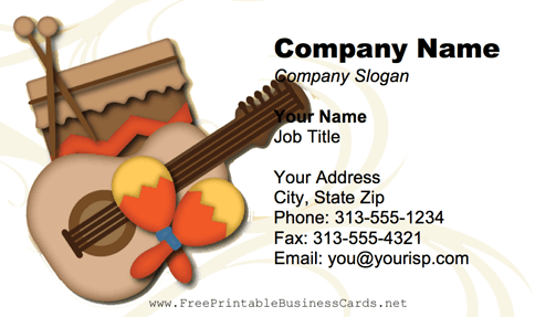 Musical Instruments business card
