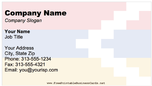 Nagorno-Karabakh business card