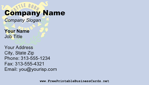 Flag of Nevada business card