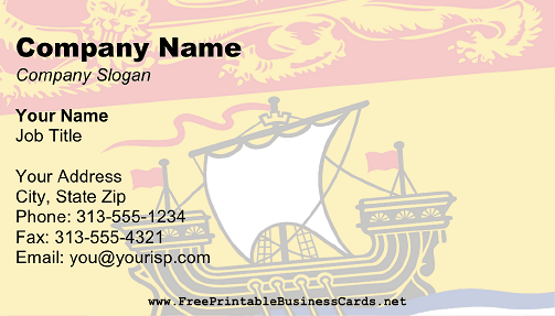 Flag of New Brunswick business card