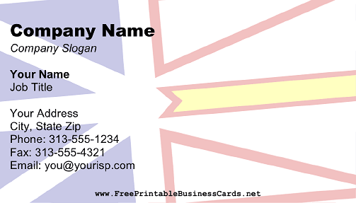 Flag of Newfoundland and Labrador business card