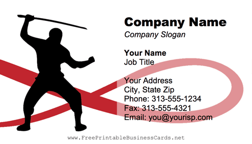 Ninja business card