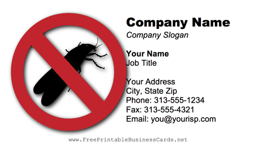 No Termites business card