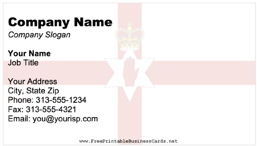 Northern Ireland business card