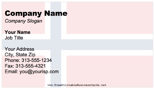 Norway Business Card business card