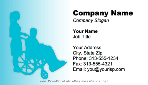 Nursing Home business card