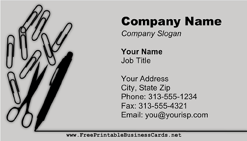 Office Supplies business card