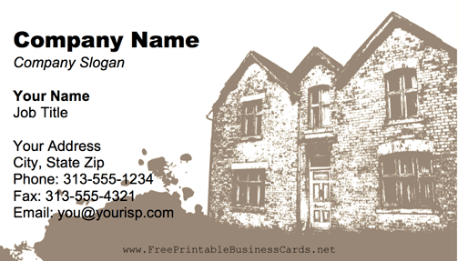Old Home business card