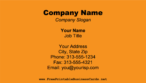 Dark Orange business card