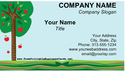 Orchard business card