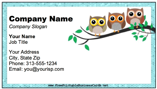 Owl Business Card business card