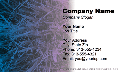 Colorful Paint Splatter business card