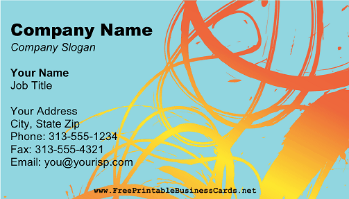 Abstract Painter business card