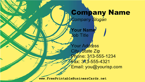 Abstract Painter 2 business card