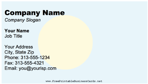 Palau business card