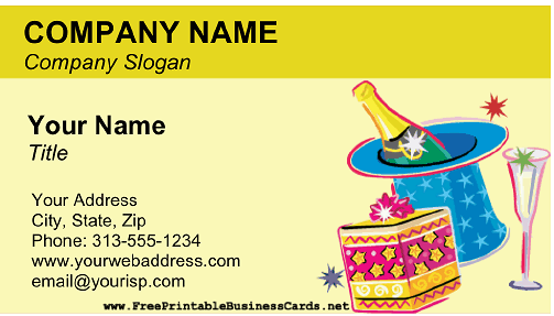 Party Planning (Adult) business card