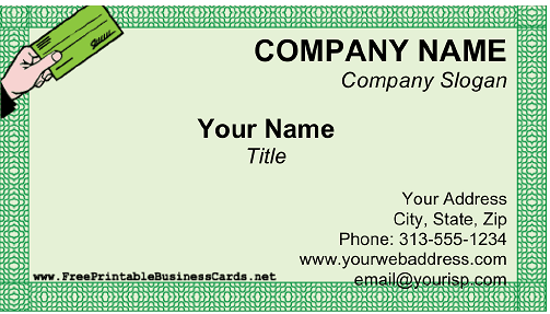 Payroll Services business card