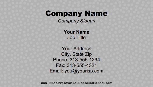 Pebbled business card